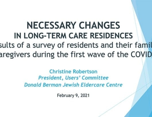 Necessary Changes in LTC Residences: Results of survey during first wave of COVID